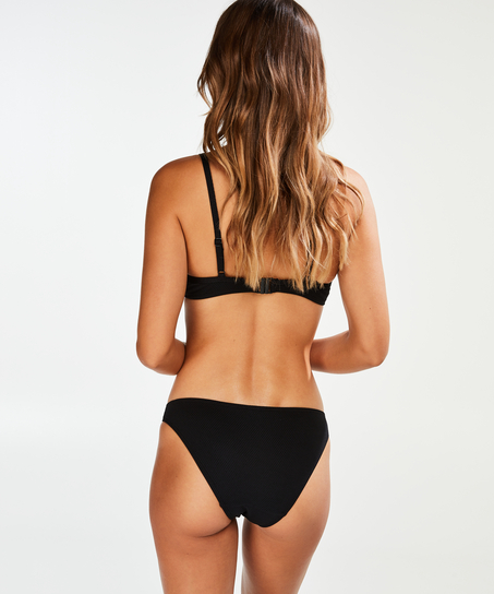 Rio Bikini-Slip mit tiefem Sitz Scallop Glam, Schwarz