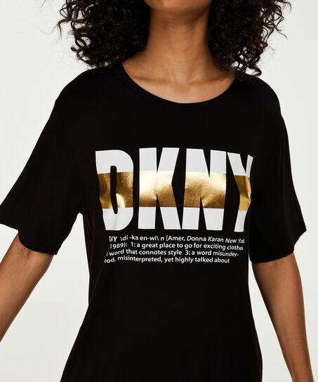 DKNY-Nachthemd, Schwarz
