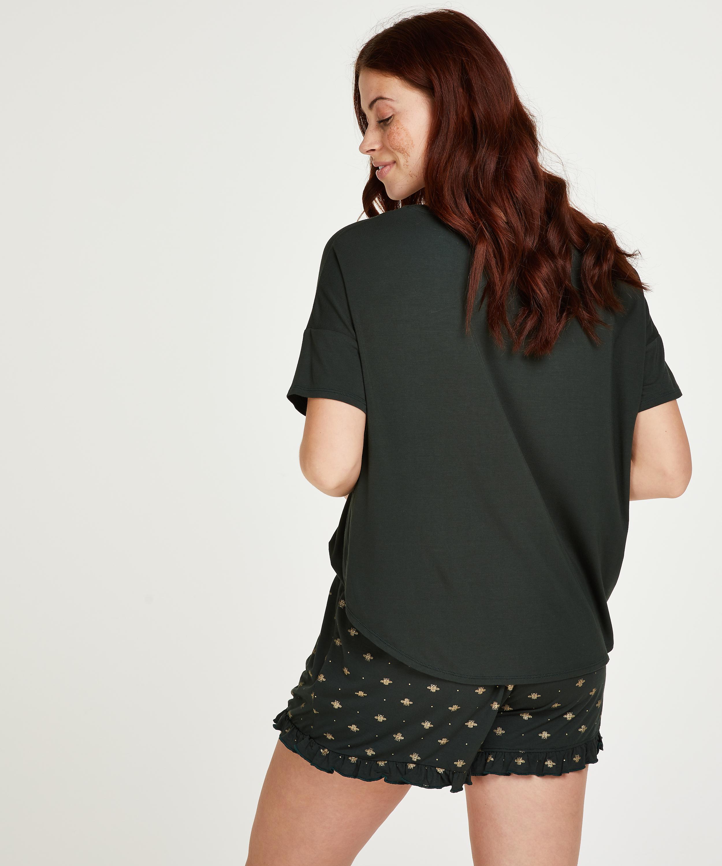 Kurzes Pyjamaset, grün, main