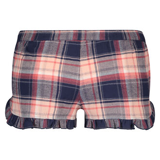 Shorts Twill Check, Blau