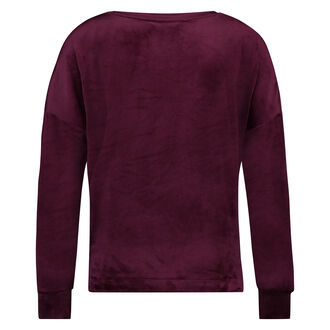 Top Velours Sterne, Rot