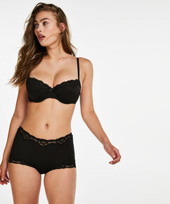 Boxer Secret Lace, Schwarz