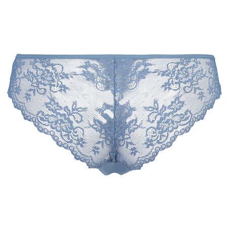 Invisible Brazilian Lace Back, Blau