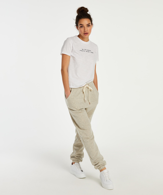 Pyjamatop kurzärmelig Jersey, Weiß, main