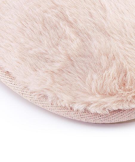 Hausschuhe Fake Fur, Rose