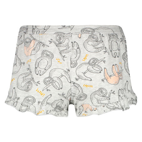 Pyjamashorts Jersey, Grau