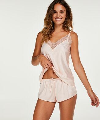 Pyjama Shorts Satin, Rose