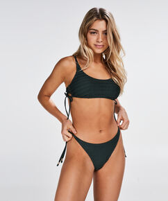 Bikini-Croptop Tied Down, grün