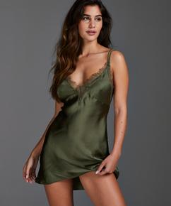 Slipdress Satin Lily, grün