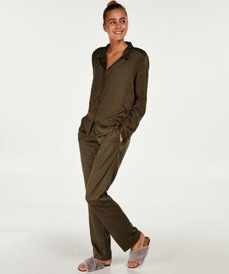Pyjamahose Satin, grün
