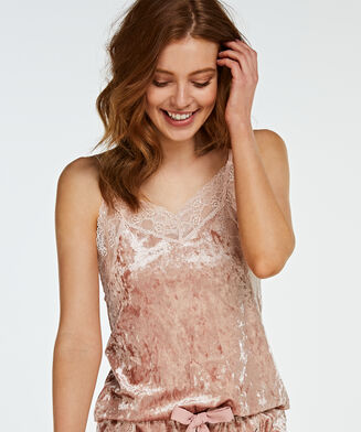 Cami Velours Lace, Rose