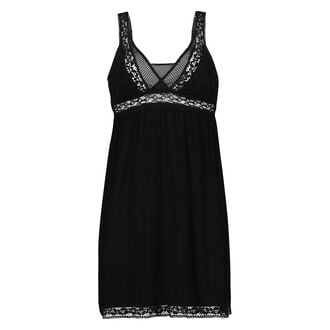 Graphic Lace slipdress, Schwarz