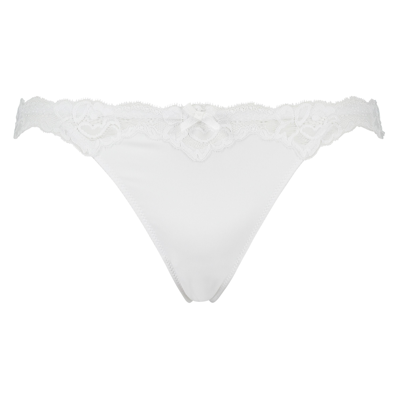 String mit Spitze Secret Lace , Weiß, main