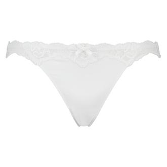 String mit Spitze Secret Lace , Weiß