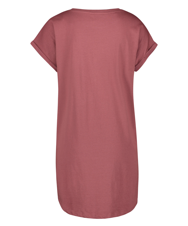 Nachthemd Rundhalsausschnitt, Rose, main