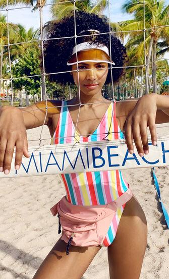 Badeanzug Tropics, Weiß