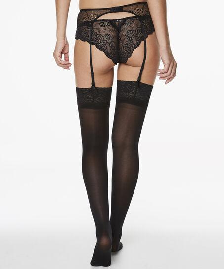 Stockings 50 Denier Lace, Schwarz