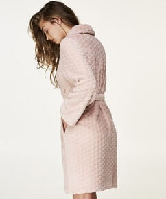 Bademantel Fleece, Rose