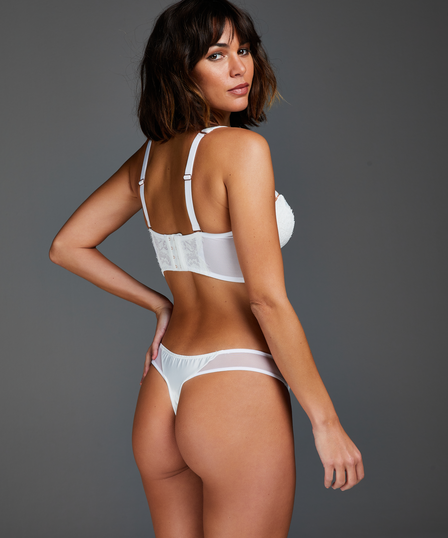 Vorgeformter Strapless-Bügel-BH, Longline-Modell Hannako, Weiß, main
