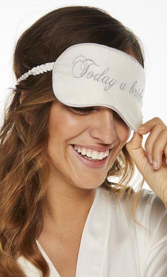 Schlafmaske Bridal, Weiß