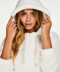 Weste aus Fleece , Weiß