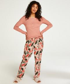 Petite Pyjamahose Woven, Beige