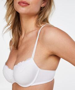 Vorgeformter Bügel-BH Secret Lace, Weiß