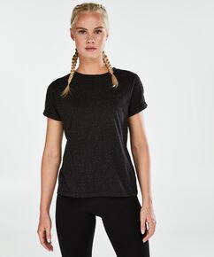 HKMX Kurzarm-Sportshirt, Schwarz