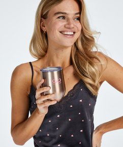Thermo-Kaffeebecher, Rosa
