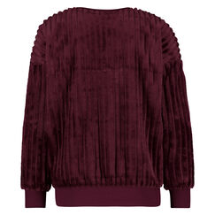 Langärmliges Top aus Fleece, Rot