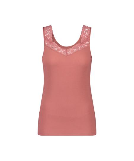 Hemdchen Ripp-Spitze, Rosa