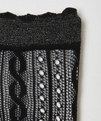Socken Crochet Fishnet Ann Kathrin, Schwarz