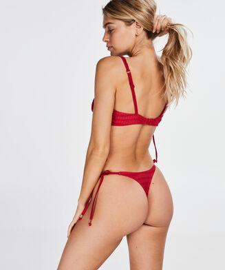 String-Bikinislip Tied Down, Rot