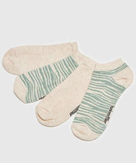 2 Paar Socken, Beige