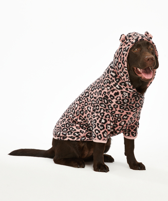 Fleece Hunde-Onesie, Rosa