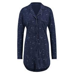 Nachthemd Menshirt Jersey, Blau