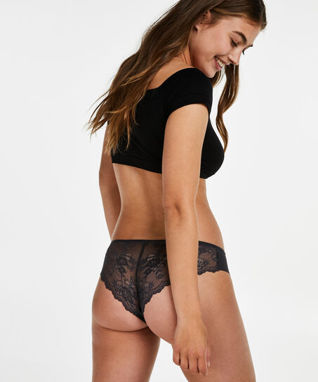 Invisible Brazilian Lace Back, Grau