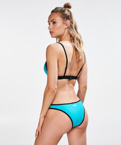 HKMX Triangel-Bikinitop Colour Block, Blau