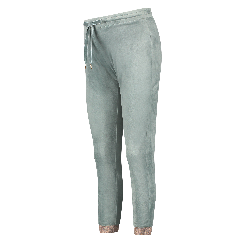 Jogginghose Velours Lurex, grün, main