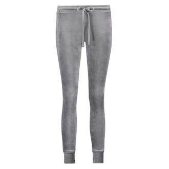 Velours-Leggings, Grau