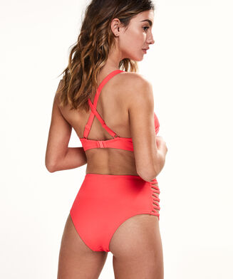 Hoher Bikinislip Sunset Dream, Rot