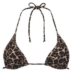 Dreieckiges Bikinitop mini Leopard, Braun