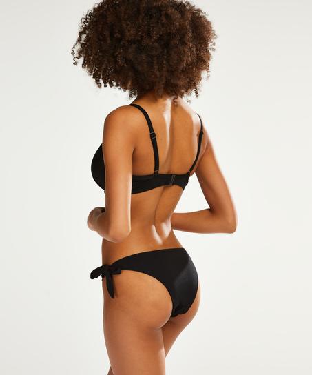 Brazilian Bikini-Unterteil Scallop Goddess, Schwarz