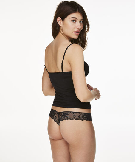 Invisible String Lace Back, Schwarz