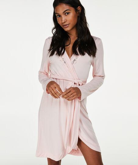 Bademantel Modal Lace, Rose