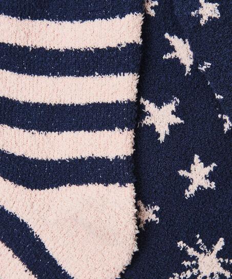 2 Paar Cosy Socks, Grau