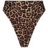 Bikini-Slip Brazilian mit hohem Beinausschnitt Animal HKM x NA-KD, Braun