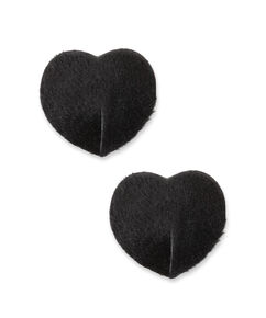 Nipple Cover Fake Fur Private, Schwarz