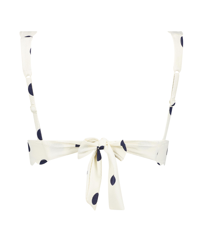 Triangel-Bikini-Oberteil Scallop Dot, Weiß, main