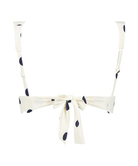 Triangel-Bikini-Oberteil Scallop Dot, Weiß